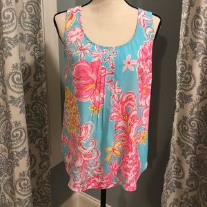 Lilly Pulitzer Silk Tank Blouse